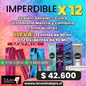 Pack 12 tinturas Matrix Socolor de 90 ml