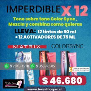 PROMO X 12 TINTURAS COLORSYNC